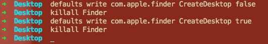 隐藏/显示 OS X所有桌面图标的Bash命令