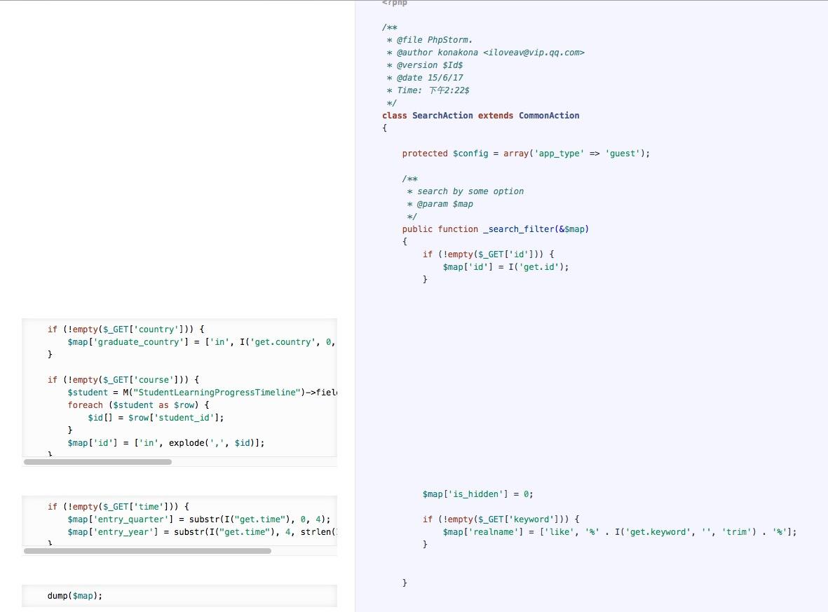 PHP 根据代码注释生成HTML文档