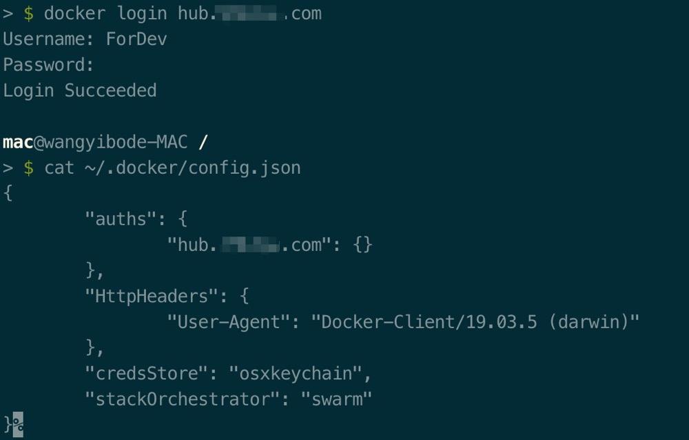 OS X (Catalina)使用Docker login的问题